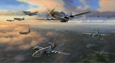 D-DAY ARMADA by Nicolas Trudgian - Signed by D-Day Fighter Aces