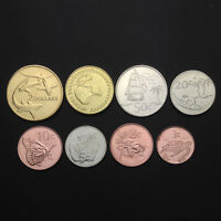 [T-2] Tokelau set of 8 coins, (1+2+5+10+20+50 cents+1 2 Dollars), 2017, New, UNC