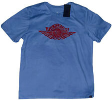 Nike Air Jordan 1 Wings T Shirt CZ1769-448 University Blue Red Travis Scott L