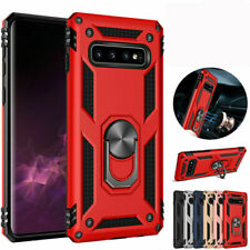 For Samsung S10 Plus A20e A70 Phone Heavy Case Cover with 360° Stand Ring Holder