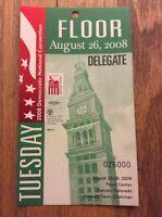 2008 Democratic National Convention Delegate Credential President Barack Obama