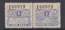 Argentina, Santa Fé, mint 1914 1p Comision de Fomento Fiscal Pair