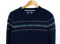 TOMMY HILFIGER Men Wool Blend Sweater Jumper Cardigan Size M ACZ546