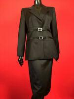 Rare Escada Black Tuxedo Jacket Pants and Skirts Vintage Suit Set