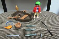 Playmobil - Piratas - Pirata Pescador Barca Remos Caña Peces - 3937 - (COMPLETO)