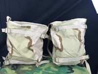 LOT OF 2 - DCU ARMY SURPLUS RADIO POUCH / BAG MOLLE II DESERT CAMO NWOT