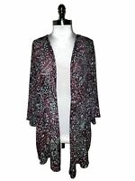 CATHERINES Plus Sz 1X 18W 20W Jacket Cardigan Top Black Pink White 3/4th Sleeve