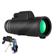 40X60 Monocular Telescope HD Night Vision Prism Scope With Phone Clip Tripod AU