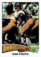 1975 Topps #367 Dan Fouts HOF ROOKIE San Diego Chargers / Oregon 2012 REPRINT