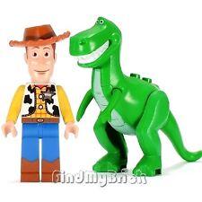 M525M520 Lego Toy Story Woody & Rex Dinosaur (T-Rex) Minifigures NEW