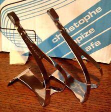 NOS CHRISTOPHE  CHROMED STEEL LARGE TOE CLIPS, 1980's