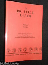 MICHAEL DIBDIN (Dibden) A Rich Full Death - 1986-1st Rare Uncorrected Proof Copy