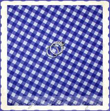BonEful Fabric FQ Cotton Quilt Purple White Plaid Girl Small Check Block Gingham