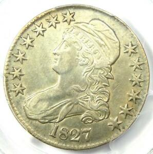 1827 Capped Bust Half Dollar 50C - Certified PCGS AU Details - Rare Coin!