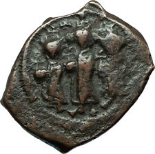 HERACLIUS & MARTINA w Son H Constantine 610AD Ancient Byzantine Coin i66243
