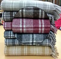 100% Top Quality Beautiful Cotton Check Design Sofa Throw,Chair Throw, Bed Throw
