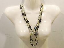 Collar Onyx/Prehnita Gema 150cm interminable Collar de abrigo - 50022