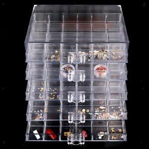 120 Grids Nail Art Rhinestone Bead Storage Display Case Plastic Empty Box