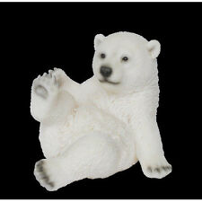 Sitting Playful Polar Bear Ornaments Vivid Arts-NF-PP34-F