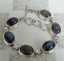 Labradorite Stone Sterling Silver Handcrafted Bracelets