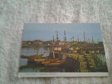Vintage postcard FISHING FLEET, GRACE BAY HARBOUR, NOVA SCOTIA , CANADA