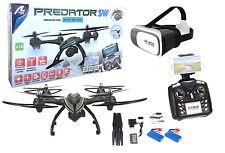 Drone radiocontrol con cámara Predator FPV Wifi + Gafas VR. Pilotaje real. 2 bat