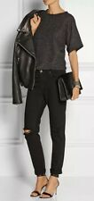 J BRAND JAKE GOTHIC BLACK DISTRESSED BOYFRIEND JEANS DENIM W 27 BNWT