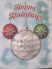 MUSIC THEMED HOLIDAY CHRISTMAS CARDS 8CT BLANK