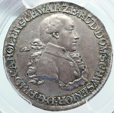1791 Germany. German Schwarzburg Rudolstadt Silver 1/2 Thaler Coin PCGS i86185