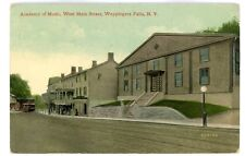 Wappingers Falls NY-ACADEMY OF MUSIC-WEST MAIN STREET-Postcard Dutchess County