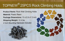 25 Rock Climbing Holds for Kids Adult Large Rock Wall Grips w/ Mounting Hardware