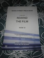 Manic Street Preachers - Rewind The Film     Promo poster -mint