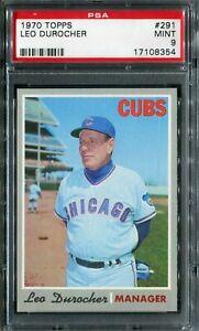 1970 Topps #291 Leo Durocher PSA 9 Mint!