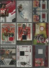5 Team Assortment Game/Event Worn Used Football Jersey 9 Card Lot 2002-2010