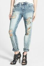 Blank NYC  Womens Destructed Boyfriend Jeans (Acid Wash Blue) - 31