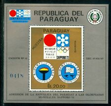 Paraguay Olympische Spiele Olympic Games 1972 MUESTRA Sapporo 72 block