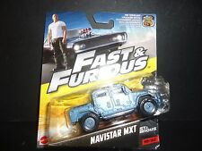 Hot Wheels Navistar MXT Blue Fast and Furious 1/55