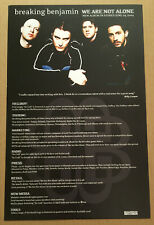 BREAKING BENJAMIN Rare 2004 MEDIUM PAPER PROMO POSTER w/ DATE for We CD 10x16.5
