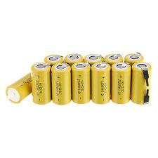 12x Sub C SC 1.2V 2200mAh Ni-Cd NiCd Rechargeable Battery Yellow Batteries