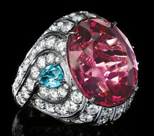 Solid 925 Sterling Silver Jewelry Beautiful Pink Oval Fancy Solitaire Ring Gift