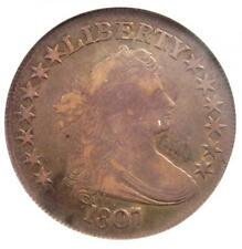 1807 Draped Bust Half Dollar 50C Coin - Certified ANACS F12 - Rare Coin!