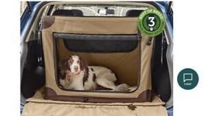 NEW Orvis Khaki Folding Dog Travel Crate Large Canvas Labrador Shooting Gun Cage