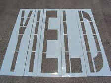 "96"" Yield Parking Lot Stencil. Walmart & Dot Font. (4) Letters. 60 Mil"