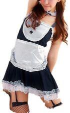 7-teiliges Zimmermädchen Straps Kleidchen MAID: Schürze Armband Haarreif String