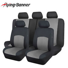 New Arrival Deluxe Car Seat Covers Set PU Leather Full Set Grey Auto Seat