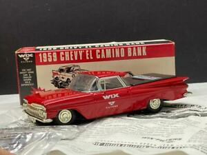 ERTL WIX Diecast 1959 Chevy El Camino Truck Bank Vintage 1:25 Scale NEW in Box