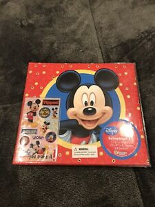 Disney Parks Mickey Mouse Scrapbook Kit Sandy Lion 8 X 8 Album Pages Stickers