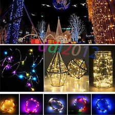 3M 30LED Button Cell Powered Easter Party Decor Copper Wire Fairy String Lights