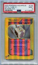 Pokemon Card Metal Cube 01 Reverse Foil Aquapolis Set 129/147, PSA 9 Mint