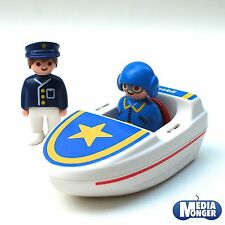 playmobil First Smile & 1.2.3  Motor boat incl. Pilot- and Police figure